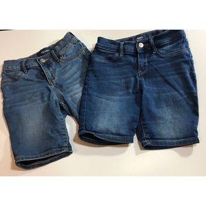 Old navy girls Bermuda begging denim shorts 10